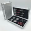 Aluminium-Dartcase-ROYAL-Silber-Vorderseite-und-geöffnet